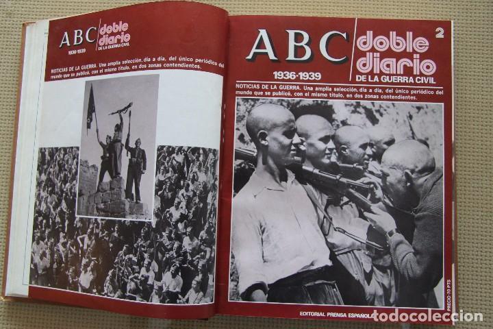 Coleccionismo de Los Domingos de ABC: REVISTA GRAFICA: ABC 1936-1939 DOBLE DIARIO GUERRA CIVIL COMPLETA 80 ENTREGAS ENCUADERNADAS 8 TOMOS - Foto 11 - 82786252