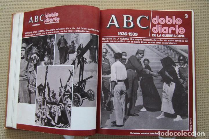 Coleccionismo de Los Domingos de ABC: REVISTA GRAFICA: ABC 1936-1939 DOBLE DIARIO GUERRA CIVIL COMPLETA 80 ENTREGAS ENCUADERNADAS 8 TOMOS - Foto 12 - 82786252