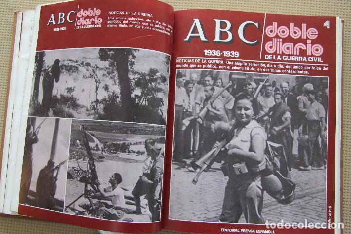 Coleccionismo de Los Domingos de ABC: REVISTA GRAFICA: ABC 1936-1939 DOBLE DIARIO GUERRA CIVIL COMPLETA 80 ENTREGAS ENCUADERNADAS 8 TOMOS - Foto 13 - 82786252