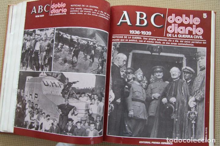 Coleccionismo de Los Domingos de ABC: REVISTA GRAFICA: ABC 1936-1939 DOBLE DIARIO GUERRA CIVIL COMPLETA 80 ENTREGAS ENCUADERNADAS 8 TOMOS - Foto 14 - 82786252