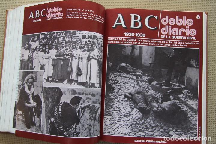 Coleccionismo de Los Domingos de ABC: REVISTA GRAFICA: ABC 1936-1939 DOBLE DIARIO GUERRA CIVIL COMPLETA 80 ENTREGAS ENCUADERNADAS 8 TOMOS - Foto 15 - 82786252