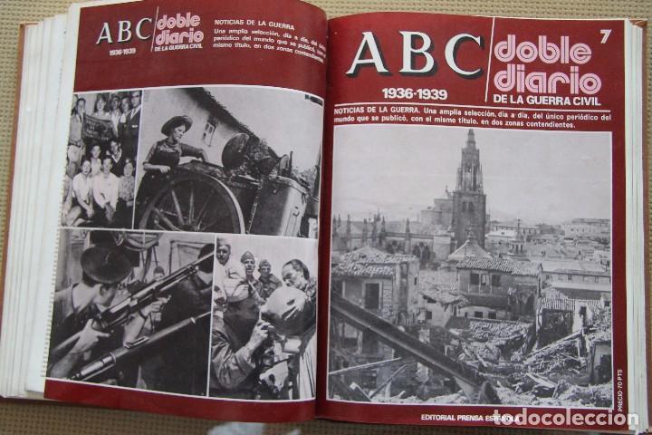 Coleccionismo de Los Domingos de ABC: REVISTA GRAFICA: ABC 1936-1939 DOBLE DIARIO GUERRA CIVIL COMPLETA 80 ENTREGAS ENCUADERNADAS 8 TOMOS - Foto 16 - 82786252