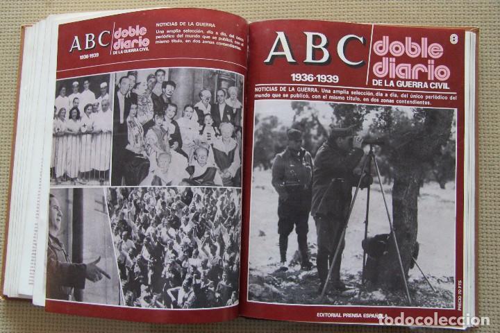Coleccionismo de Los Domingos de ABC: REVISTA GRAFICA: ABC 1936-1939 DOBLE DIARIO GUERRA CIVIL COMPLETA 80 ENTREGAS ENCUADERNADAS 8 TOMOS - Foto 17 - 82786252