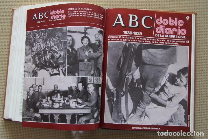 Coleccionismo de Los Domingos de ABC: REVISTA GRAFICA: ABC 1936-1939 DOBLE DIARIO GUERRA CIVIL COMPLETA 80 ENTREGAS ENCUADERNADAS 8 TOMOS - Foto 18 - 82786252