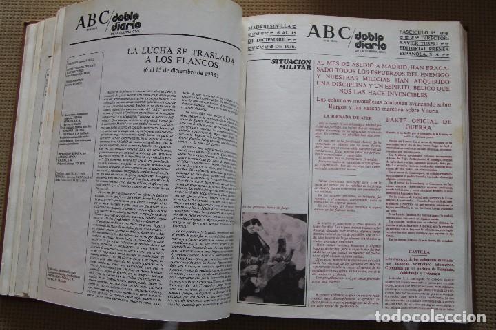 Coleccionismo de Los Domingos de ABC: REVISTA GRAFICA: ABC 1936-1939 DOBLE DIARIO GUERRA CIVIL COMPLETA 80 ENTREGAS ENCUADERNADAS 8 TOMOS - Foto 21 - 82786252