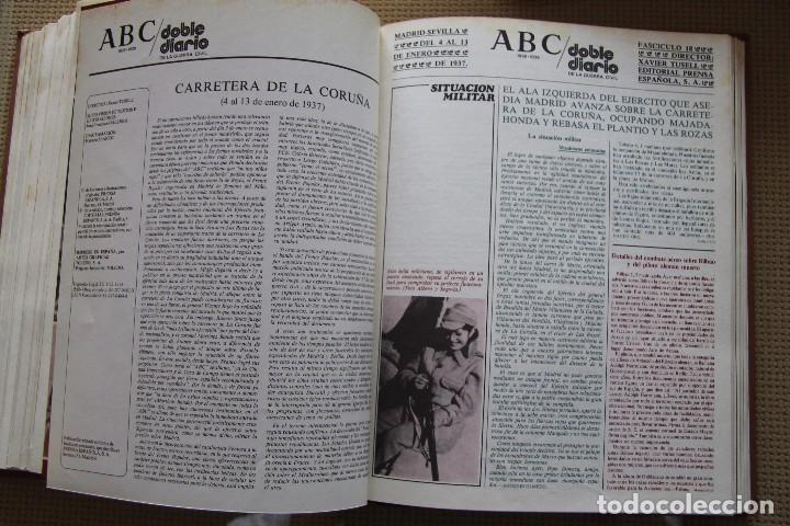 Coleccionismo de Los Domingos de ABC: REVISTA GRAFICA: ABC 1936-1939 DOBLE DIARIO GUERRA CIVIL COMPLETA 80 ENTREGAS ENCUADERNADAS 8 TOMOS - Foto 23 - 82786252