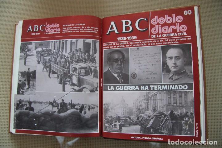 Coleccionismo de Los Domingos de ABC: REVISTA GRAFICA: ABC 1936-1939 DOBLE DIARIO GUERRA CIVIL COMPLETA 80 ENTREGAS ENCUADERNADAS 8 TOMOS - Foto 24 - 82786252
