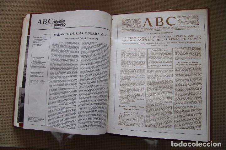 Coleccionismo de Los Domingos de ABC: REVISTA GRAFICA: ABC 1936-1939 DOBLE DIARIO GUERRA CIVIL COMPLETA 80 ENTREGAS ENCUADERNADAS 8 TOMOS - Foto 25 - 82786252