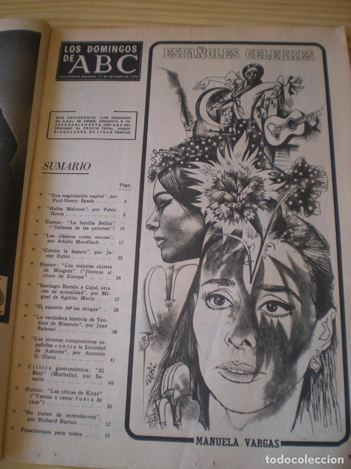 Coleccionismo de Los Domingos de ABC: los domingos de ABC de fecha 11 octubre de 1970 - Foto 2 - 91034100