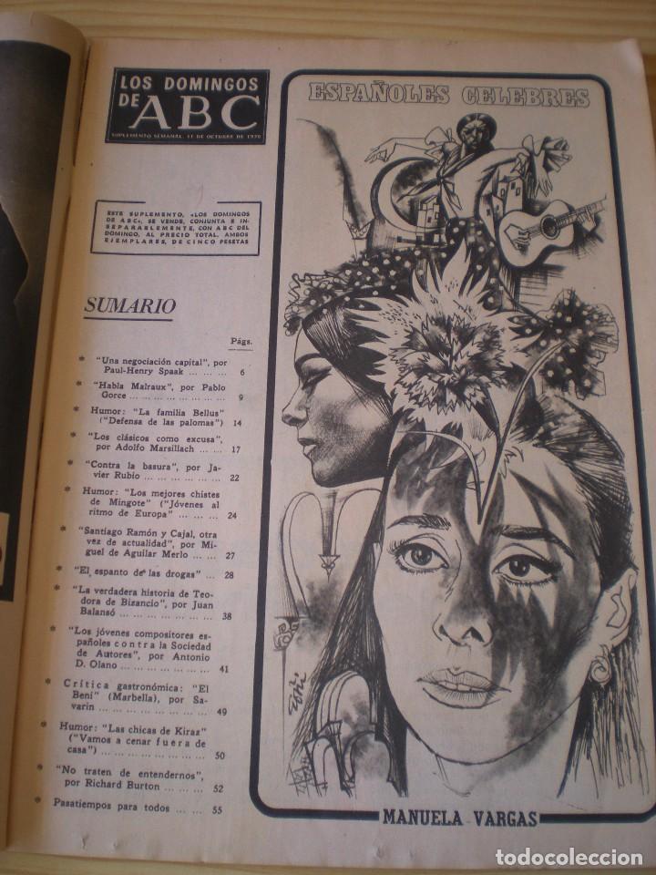 Coleccionismo de Los Domingos de ABC: los domingos de ABC de fecha 11 octubre de 1970 - Foto 2 - 91034455