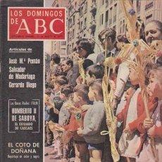 Coleccionismo de Los Domingos de ABC: LOS DOMINGOS DE A B C - 23 MARZO 1975 - PORTADA: SEMANA SANTA. Lote 91536950
