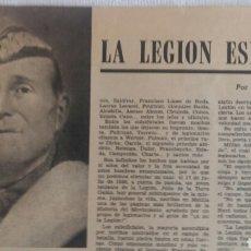 Coleccionismo de Los Domingos de ABC: (SEVILLA) LA LEGIÓN ESPAÑOLA. LOS DOMINGOS ABC FEBRERO 1970. RECORTE PRENSA. DELFÍN SALAS. Lote 96136970
