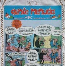 Coleccionismo de Los Domingos de ABC: GENTE MENUDA - REVISTA JUVENIL DE ABC. Lote 97556895