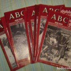 Coleccionismo de Los Domingos de ABC: LOTE DE 8 REVISTAS DOBLE DIARIO DE LA GUERRA CIVIL DE ABC. Lote 97829991