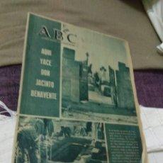 Coleccionismo de Los Domingos de ABC: ABC AQUI YACE DON JACINTO BENAVENTE.. Lote 98168326