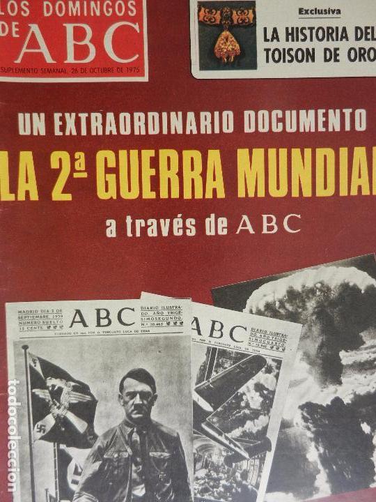 LOS DOMINGOS DE ABC 26 DE OCTUBRE DE 1975. (Coleccionismo - Revistas y Periódicos Modernos (a partir de 1.940) - Los Domingos de ABC)