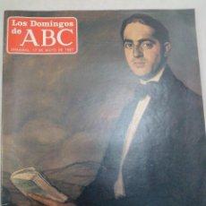 Coleccionismo de Los Domingos de ABC: LOS DOMINGOS DE ABC. MARAÑÓN: CIEN AÑOS DE UN GRAN LIBERAL. 17 DE MAYO DE 1987. Lote 99370127
