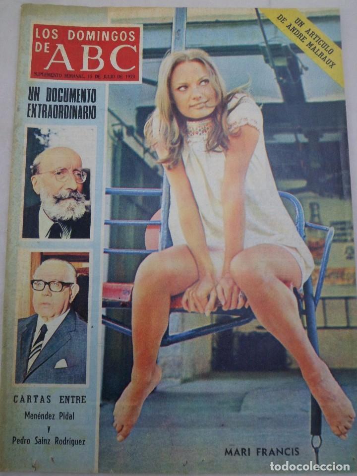 LOS DOMINGOS DE ABC. MARI FRANCIS. 15 DE JULIO DE 1973 (Coleccionismo - Revistas y Periódicos Modernos (a partir de 1.940) - Los Domingos de ABC)