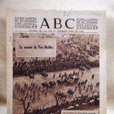 Coleccionismo de Los Domingos de ABC: PERIODICO, DIARIO ILUSTRADO, ABC, MARZO 1943, Nº 11569, MUERTE DE VON MOLTKE. Lote 99708319