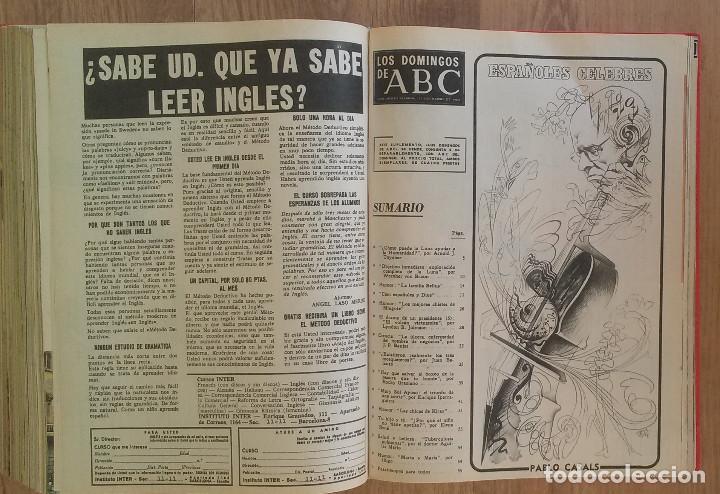 Coleccionismo de Los Domingos de ABC: Los Domingos de ABC TOMO 12 NUMEROS Julio-Diciembre 1969 Muy buen estado ( Ver fotografias) - Foto 26 - 100291747