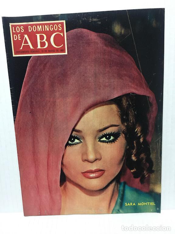 ANTIGUA REVISTA LOS DOMINGOS DE ABC MARZO DEL 69 ESPECIAL SARA MONTIEL (Coleccionismo - Revistas y Periódicos Modernos (a partir de 1.940) - Los Domingos de ABC)