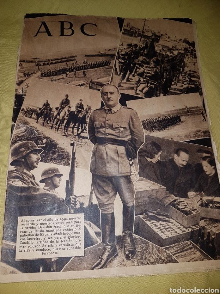 ABC 1942 DIVISION AZUL ANUNCIO MARIQUITA PEREZ (Coleccionismo - Revistas y Periódicos Modernos (a partir de 1.940) - Los Domingos de ABC)
