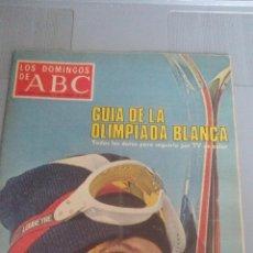 Collectionnisme de Los Domingos de ABC: LOS DOMINGOS DE ABC - 1 DE FEBRERO DE 1976 - GUIA DE LA OLIMPIADA BLANCA. Lote 115071679