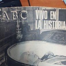 Coleccionismo de Los Domingos de ABC: ABC 21 DE NOVIEMBRE 1975 Y 25 DE NOVIEMBRE DE 1975. MUERTE Y ENTIERRO DE FRANCO. Lote 115505850