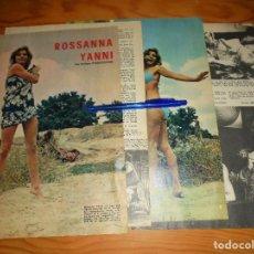 Coleccionismo de Los Domingos de ABC: RECORTE DE PRENSA : ROSSANNA YANNI. ARTICULO DE 4 HOJAS. DOMINGOS ABC, 1970. Lote 115557315
