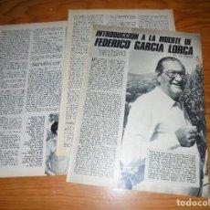 Coleccionismo de Los Domingos de ABC: RECORTE DE PRENSA : INTRODUCCION A LA MUERTE DE FEDERICO GARCIA LORCA. LOS DOMINGOS DE ABC, 1972. Lote 116516179