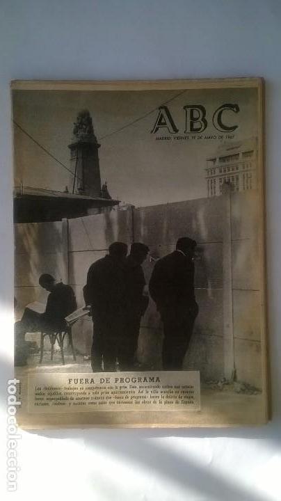 PERIODICO ABC 19 MAYO 1967 (Coleccionismo - Revistas y Periódicos Modernos (a partir de 1.940) - Los Domingos de ABC)
