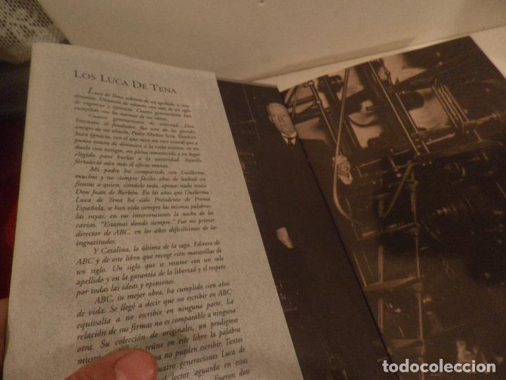 Coleccionismo de Los Domingos de ABC: EL PERIODICO DEL SIGLO 1903 - 2003 100 FIRMAS - 100 AÑOS EDICION LIMITADA. NUMERO 68467. - Foto 5 - 118679571