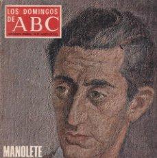 Coleccionismo de Los Domingos de ABC: LOS DOMINGOS DE A B C - 24 AGOSTO 1975 - EN PORTADA: MANOLETE. Lote 119066947