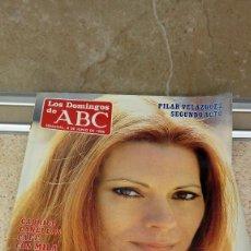 Coleccionismo de Los Domingos de ABC: REVISTA SEMANAL, LOS DOMINGOS DE ABC, PILAR VELAZQUEZ SEGUNDO ACTO 8-6-1986.. Lote 121520323