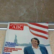 Coleccionismo de Los Domingos de ABC: REVISTA SEMANAL, LOS DOMINGOS DE ABC, PERALES A LA CONQUISTA DE AMERICA 1-6-1986.. Lote 121520495