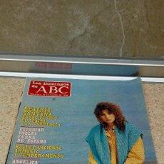 Coleccionismo de Los Domingos de ABC: REVISTA SEMANAL LOS DOMINGOS DE ABC BEATRIZ SANTANA ENTRE EL CINE EL TEATRO Y LA PSICOLOGIA 25-3-86.. Lote 121521431