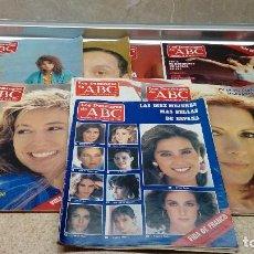 Coleccionismo de Los Domingos de ABC: LOTE DE 8 REVISTAS SEMANALES, LOS DOMINGOS DE ABC 1986, PERIODICO.. Lote 121522059