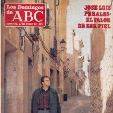 Coleccionismo de Los Domingos de ABC: 1985. JOSE LUIS PERALES.SOFÍA GANDARIAS.JULIO IGLESIAS. VER SUMARIO. Lote 122135823