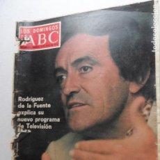 Coleccionismo de Los Domingos de ABC: LOS DOMINGOS DE ABC - 06-07-1975 RODRIGUEZ DE LA FUENTE EXPLICA SU NUEVO PROGRAMA EN TV . Lote 122137447
