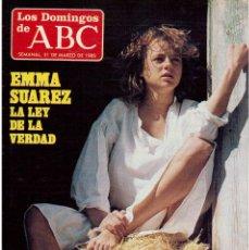 Coleccionismo de Los Domingos de ABC: 1985. EMMA SUAREZ. PILAR DIEZ Y TELLA. LEONARD COHEN. SEENA EASTON. VER SUMARIO. Lote 122152035