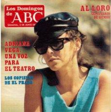 Coleccionismo de Los Domingos de ABC: 1985. ADRIANA VEGA.BLANCA AGUIRRE DE CARCER.ENRIQUE TIERNO GALVÁN.ROBERTO CARLOS. VER SUMARIO. Lote 122169543