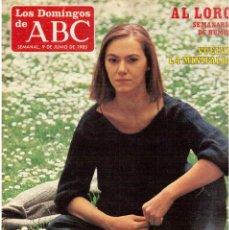 Coleccionismo de Los Domingos de ABC: 1985. LAURA GARCÍA LORCA.CATALINA DE LLOPIS.MICHELLE PFEIFFER.ROQUE NARVAJA.AZUL Y NEGR VER SUMARIO. Lote 122170363