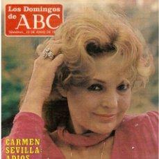 Coleccionismo de Los Domingos de ABC: 1985. CARMEN SEVILLA. CARMEN MAURA. ANA BELÉN. ANGELA CRUZAT.VER SUMARIO. Lote 122171195