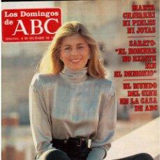 Coleccionismo de Los Domingos de ABC: 1987. MARTA CHAVARRI. LUIS GARCÍA BERLANGA. ERNESTO SÁBATO. ALEX Y CHRISTINA. . Lote 122234435