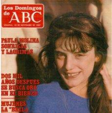 Coleccionismo de Los Domingos de ABC: 1987. PAULA MOLINA. EL LUTE MERCHERO DE LUJO. TIERNOS MANCEBOS. MERCEDES PADILLA.. Lote 122243271