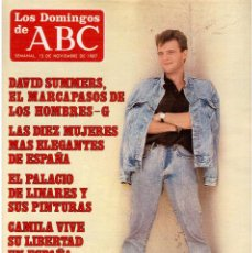 Coleccionismo de Los Domingos de ABC: 1987. HOMBRES-G, DAVID SUMMERS. IMANOL ARIAS. CAMILA LIBRE DE LA GUERRILLA. SANDRA. . Lote 122244407