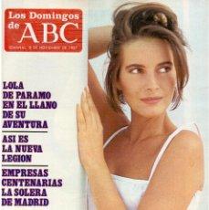 Coleccionismo de Los Domingos de ABC: 1987. LOLA PARAMO. JUAN BARRANCO. FLAMIN' GROOVIES. JERÓNIMO EL NIÑO GUITARRA. . Lote 122245835