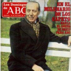 Coleccionismo de Los Domingos de ABC: 1987. CHUMMY CHUMEZ.MILENARIO CAPETO.MIGUEL RIOS.JOHNNY JUERGA Y LOS QUE RE... PISUERGA.CARLA DUVAL.. Lote 122250811