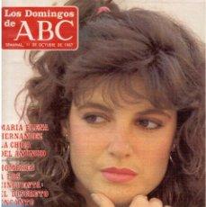 Coleccionismo de Los Domingos de ABC: 1987. MARÍA ELENA HERNANDEZ.THE BOLSHOI.CARMEN MAURA. ASSUMPTA SERNA.MERCEDES SAMPIETRO.. Lote 122251975