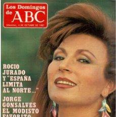 Coleccionismo de Los Domingos de ABC: 1987. NURIA ESPERT. ROCIO JURADO. PILAR VELAZQUEZ. LE CORBUSIER. ANGELA MOLINA. GILBERT BECAUT.. Lote 122253927